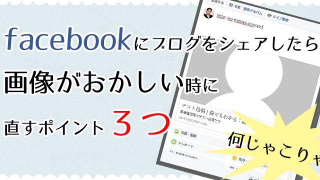 Facebookにブログをシェアしたら画像がおかしいときに直すポイント3つ