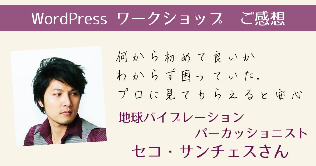 WordPressワークショップご感想 セコ・サンチェス様