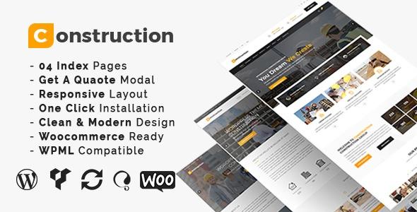 Construction 3.4 – WordPress тема для строительного бизнеса