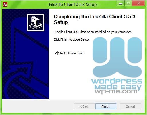 FileZilla Installer - Finishing Setup