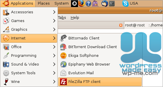 Finding FileZilla in linux