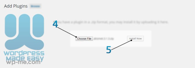 Install WordPress Plugin - Upload Plugin