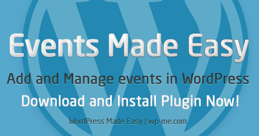 Events Made Easy plugin - Add and Manage events in WordPress