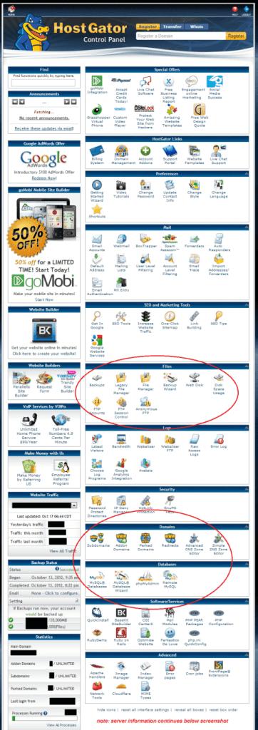 HostGator Hosting Control Panel (cPanel) • HostGator Review