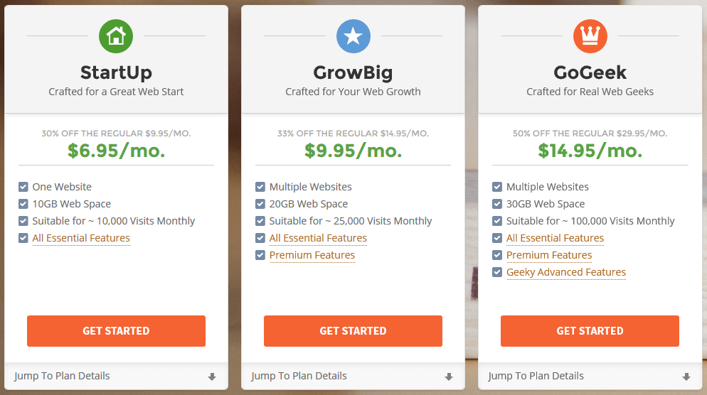 SiteGround Hosting Plans - SiteGround Review