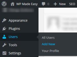 Add New User 1 - Change WordPress Admin Username from Admin Area