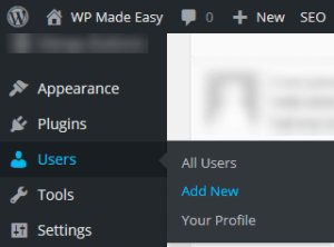 Add New User 1 - Change WordPress Admin Username from Admin Area