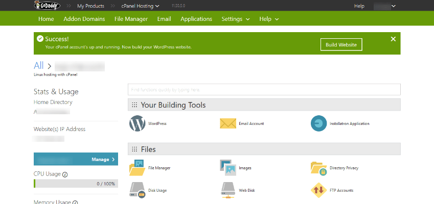 how to install wordpress on godaddy cpanel