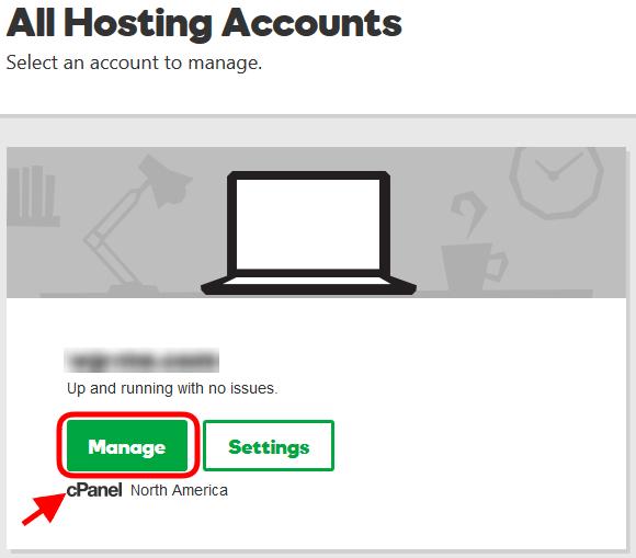 Managing GoDaddy Hosting Account using cPanel