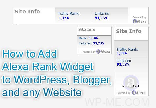 How to Add Alexa Rank Widget to WordPress, Blogger & Any Website?