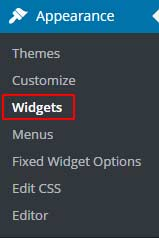 Widgets in WordPress Admin Panel