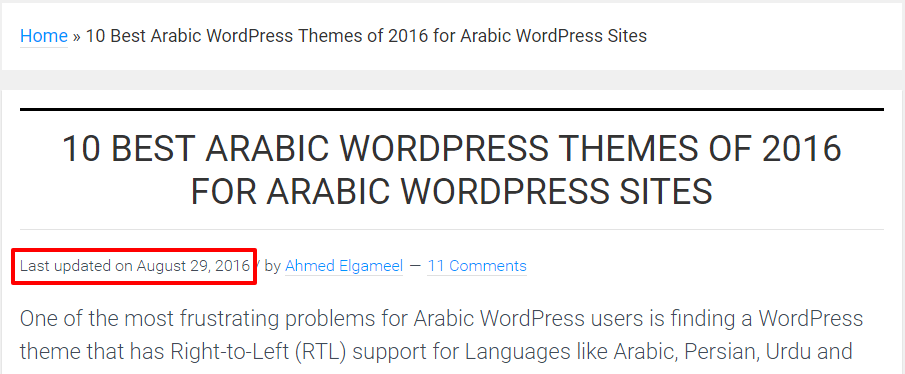 Replace WordPress Published Date with Last Updated Date in Genesis