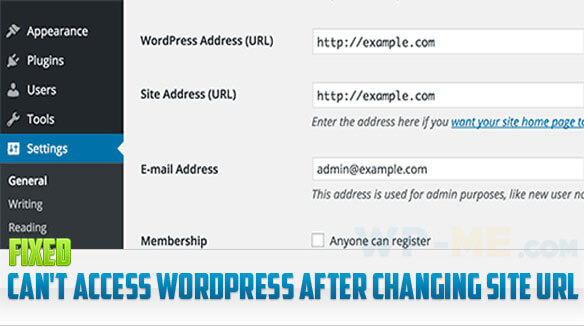 Can't access WordPress after changing site URL