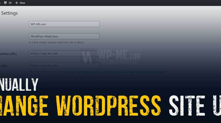 WordPress Site URL