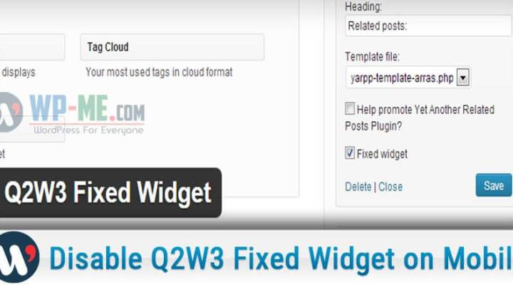 How to Disable Q2W3 Fixed Widget on Mobile Devices