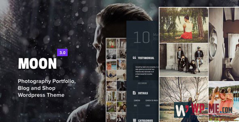 Moon Photography WordPress Theme