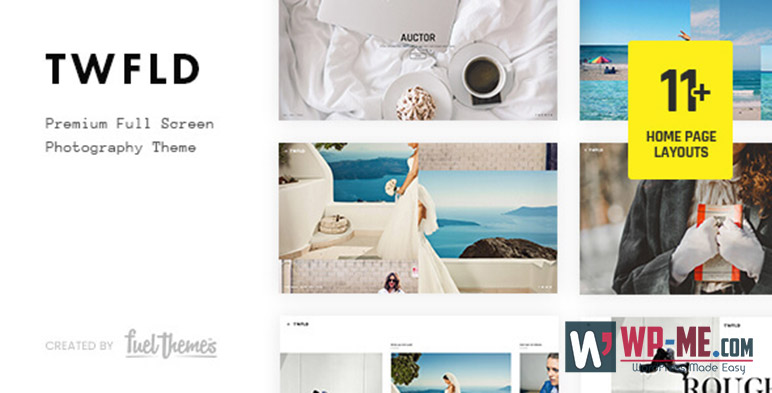 TwoFold Photography WordPress Theme