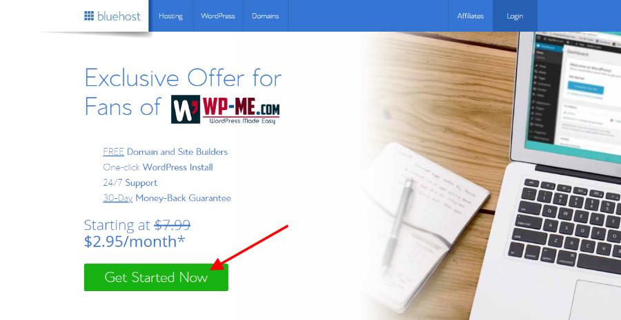 Bluehost offer for WP-ME.com visitors