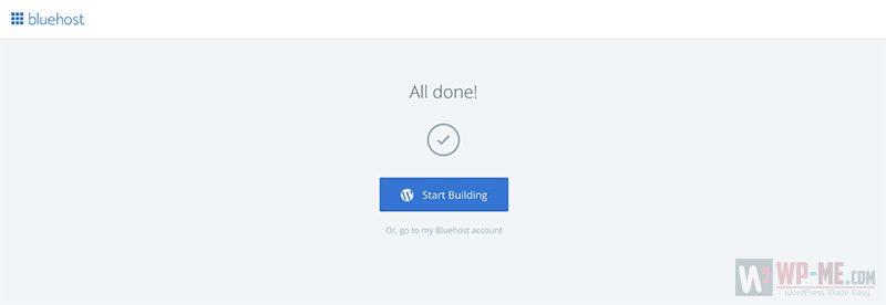 Bluehost WordPress login