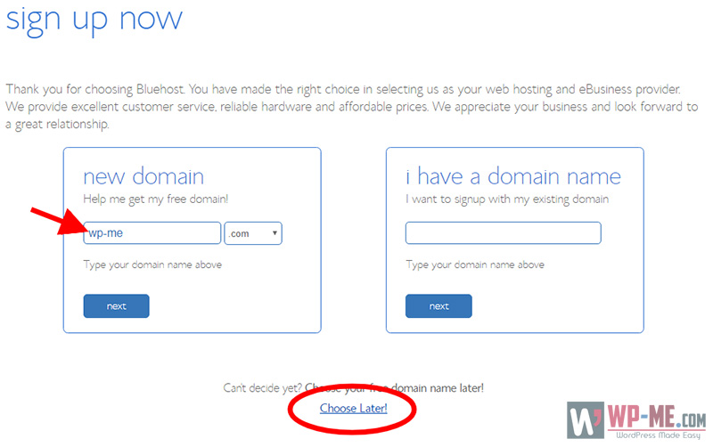 Create a blog - register domain name