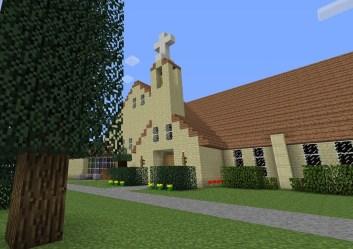 minecraft church building baptist comparison rendition