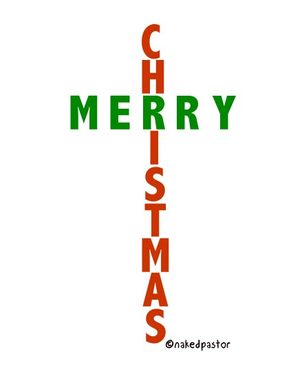 cartoon a christmas cross