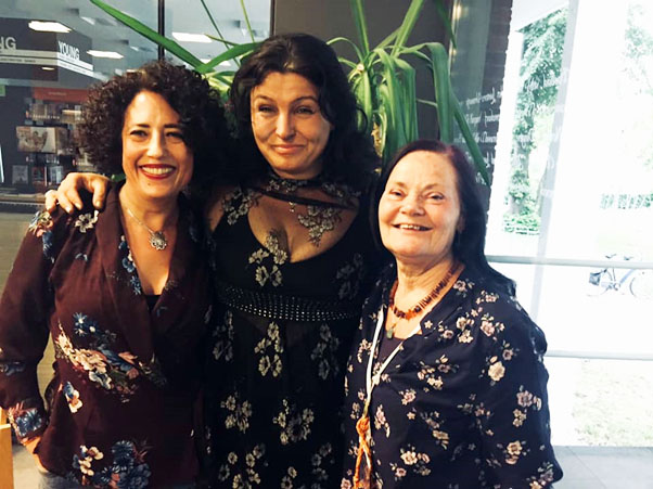 Antonia, Sorita and Morgana - at the end of the PFI Spring Gathering in the Netherlands, 2019.