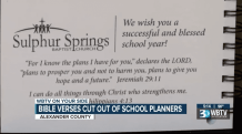 North Carolina School Removes Bible Verses from Student Planners Donated by Local Church