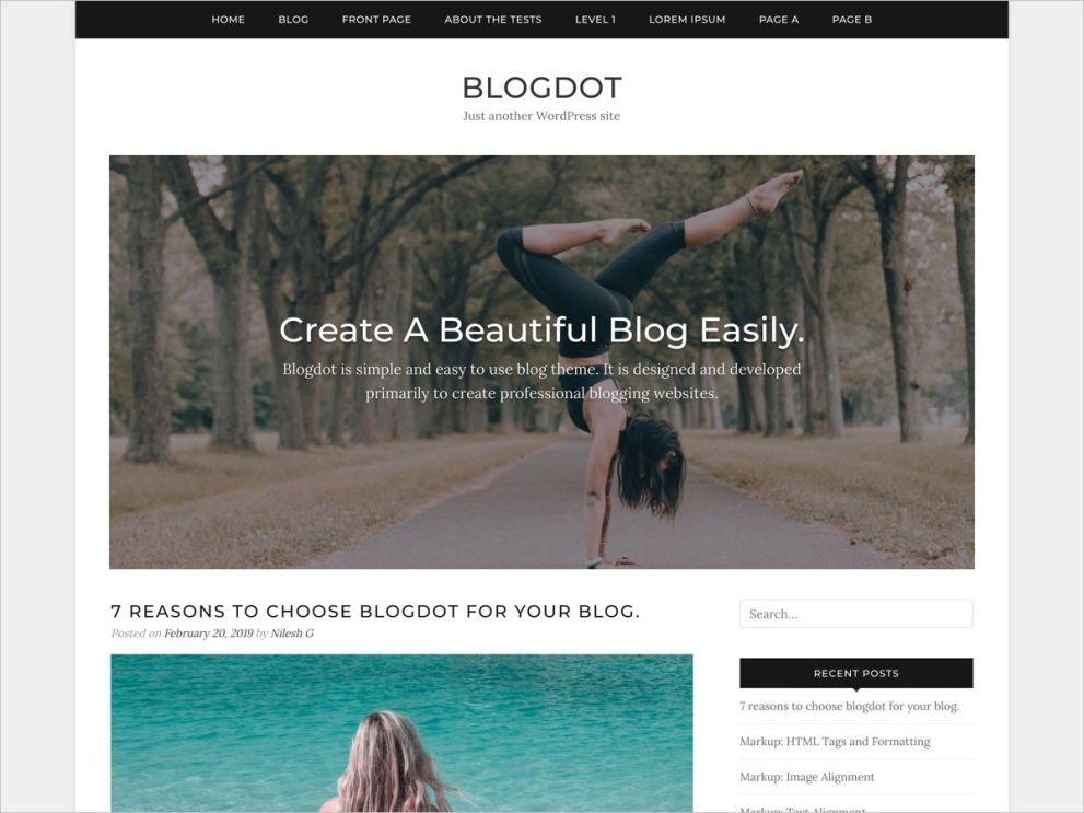 WordPress Blog Theme - Blogdot - Free