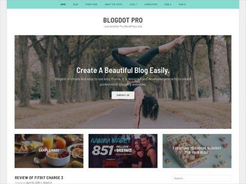 Blogdot Premium WordPress blog theme