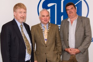 Pictured L to R are the outgoing IHCA President Dr Gerard Crotty with the incoming President Dr Tom Ryan, Consultant in Intensive Care and Anaesthesia, SJH, and newly elected Vice President, Dr Roy Browne, Consultant Psychiatrist, Phoenix Care Centre