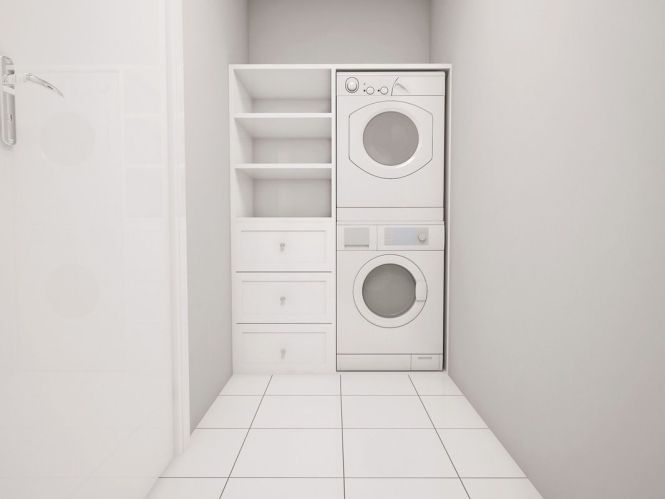 In Unit Laundry A Washer Dryer Is The