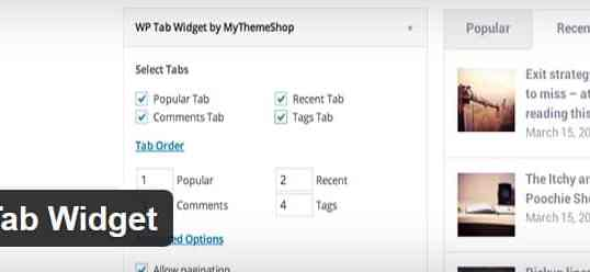 Obtenez gratuitement la traduction du plugin WP Tab Widget.