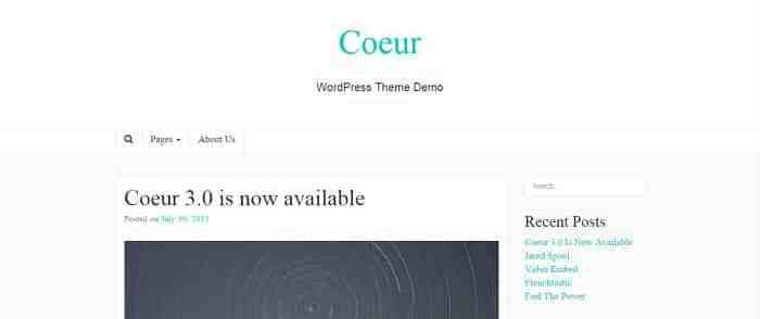 Fichiers .po et .mo de la traduction française du thème Coeur
