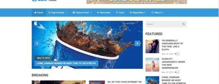 Capture du site de démonstration du thème Best dont je vous propose ici la traduction en français.