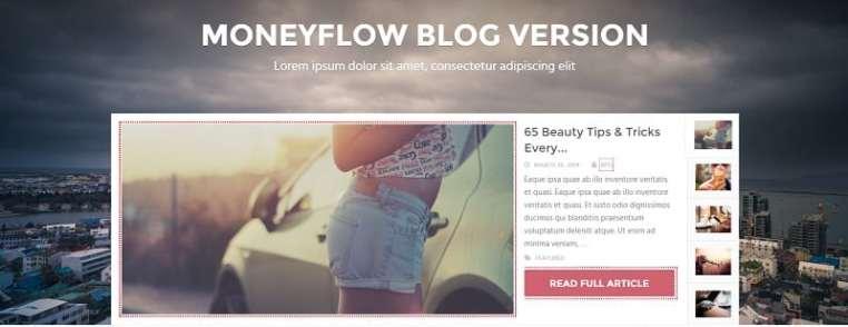 Capture d'écran du thème MoneyFlow dont vous pouvez obtenir ici la traduction en français.