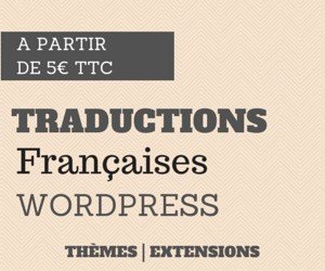 WP Traduction est un service de traduction en français de thèmes et d'extension WordPress.