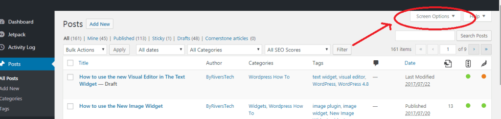 How to change the number of items listed in WordPress