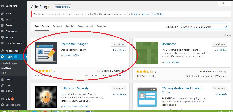 How to change usernames in WordPress using Username Changer