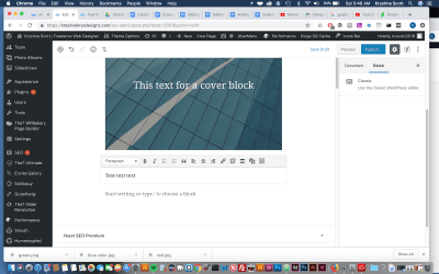 Using the Classic Block in Gutenberg