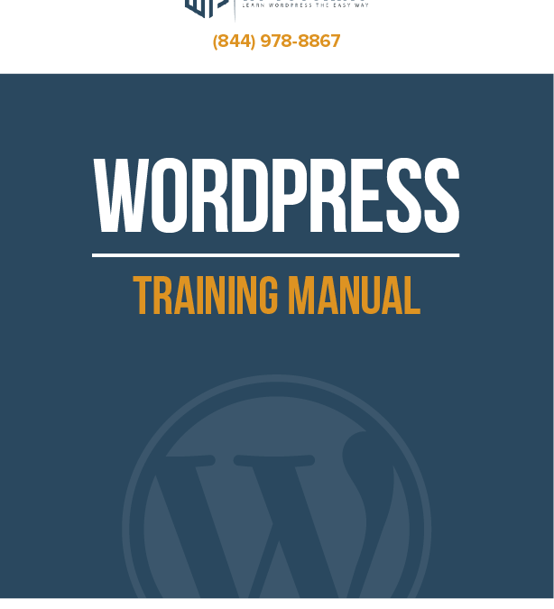 WordPress Tutoring PDF Manual Now Available