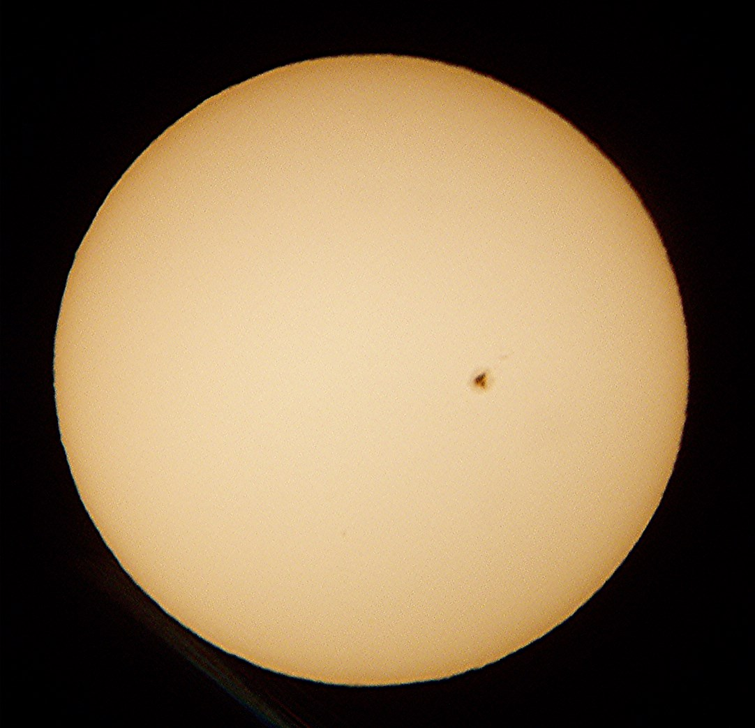 Image Credit: Dan Pedan, Large Sunspot of April 12, 2016, Olympus Digital Camera