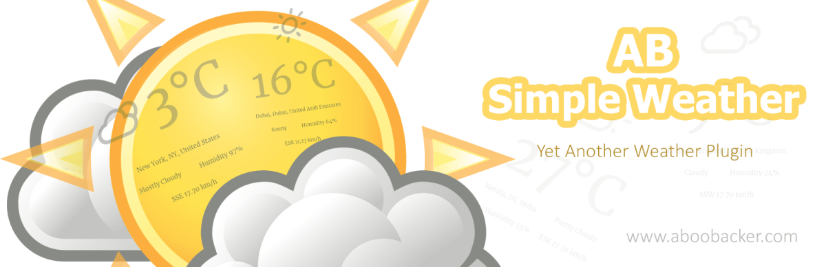 Winter Release: AB Simple weather – yet another WordPress weather plugin