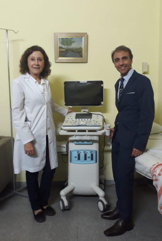 Dra.Diana Dubinsky, Jefa de la División Reumatología y Flavio Arce, Director Médico de Pfizer<br><br>