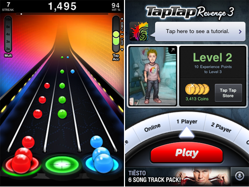 Tap Tap Revenge 3 Available For Free To Celebrate Oodles Of Downloads