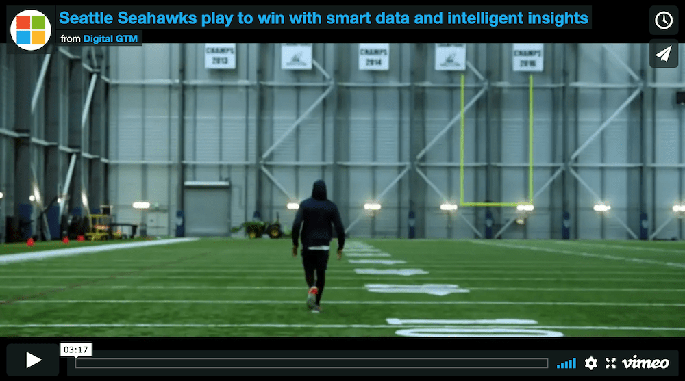 Seattle Seahawks play to win with smart data and intelligent insights