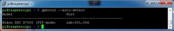 gphoto2 --auto-detect