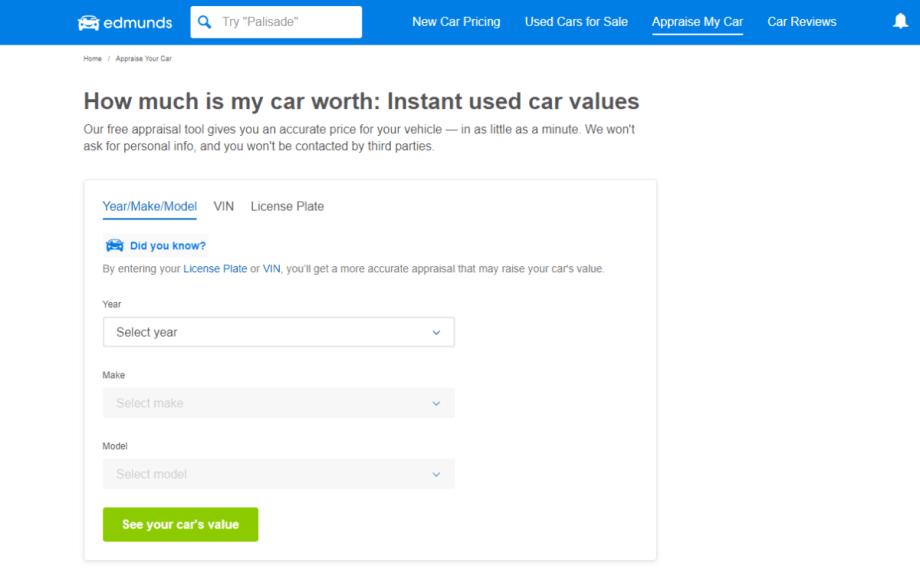 como saber el precio de mi carro en nj