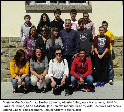 Grupo ganador + profes