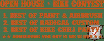 Info zum Bike-Contest 07.09.2013